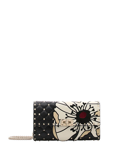 Spike.It Flower Wallet On A Chain Crossbody Bag