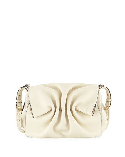Bloomy Gathered Leather Shoulder Bag