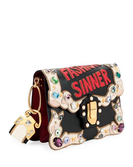 """Lucia """"Fashion Sinner"""" Embellished Shoulder Bag"""