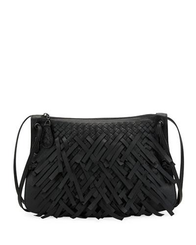 Palio Fringe Intrecciato Shoulder Bag