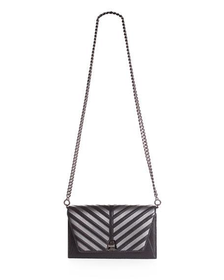 Anouk Small City Oversize-Herringbone Chain Shoulder Bag