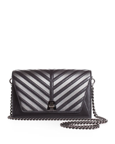Anouk Small City Oversize-Herringbone Chain Shoulder Bag