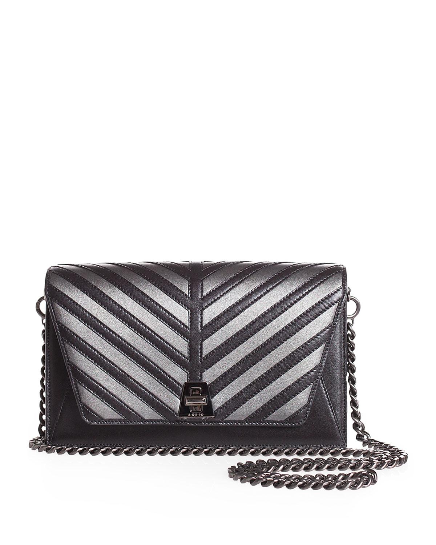 5320a4f156 Akris Anouk Small City Oversize-Herringbone Chain Shoulder Bag ...