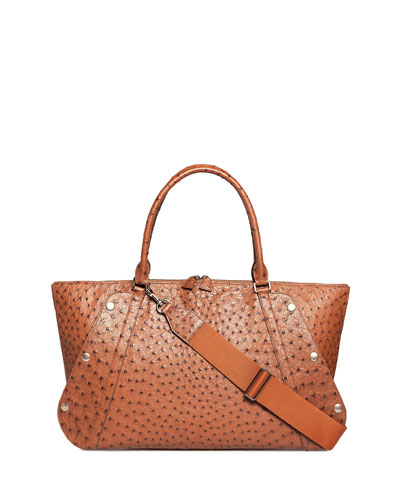 Aimee Medium Ostrich Satchel Bag