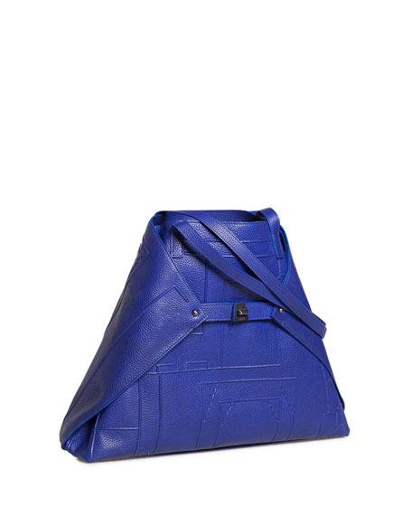 AI Medium Soft Blueprint Leather Shoulder Bag