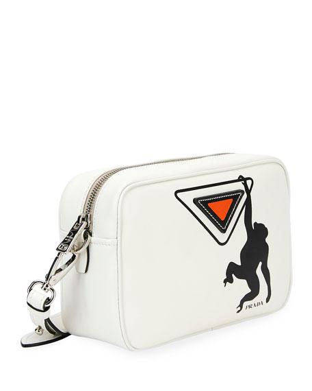 Prada City Calf Logo Camera Bag