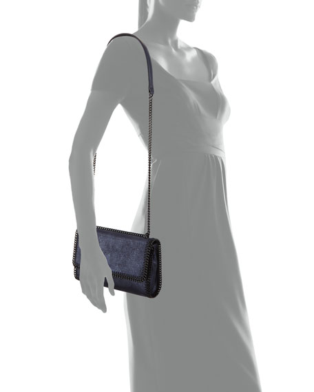 Falabella Shiny Chamois Chain Shoulder Bag