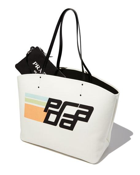 Large Prada Canapa Logo Shopper