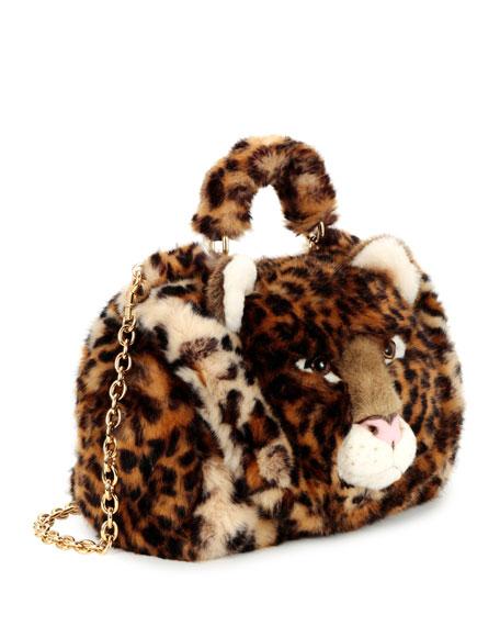 Sicily Small Leo Fur Satchel Bag