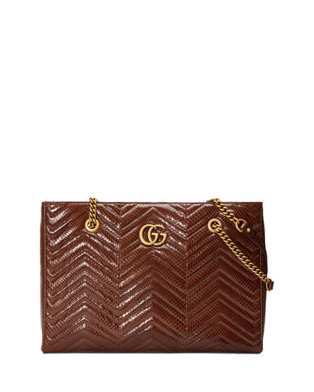 GG MARMONT CHEVRON TOTE BAG