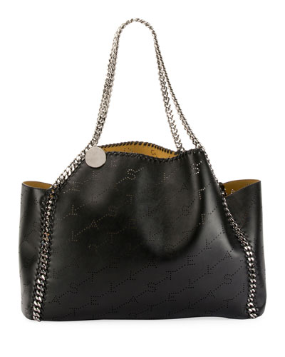 Falabella East-West Reversible Tote Bag with Perforated Logo