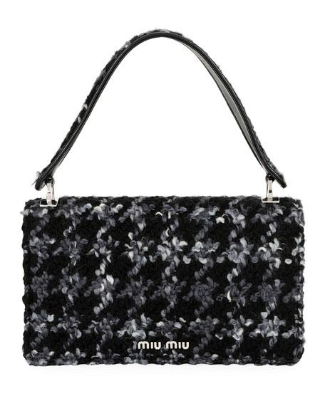 Cleo Boucle Top-Handle Shoulder Bag