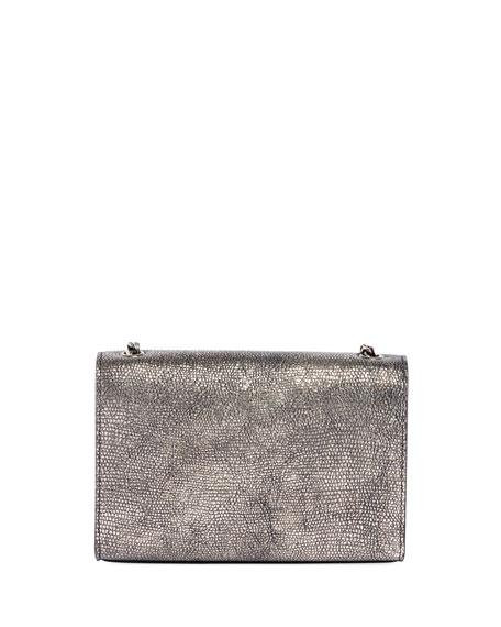 Kate Monogram YSL Small Metallic Lizard-Print Crossbody Bag