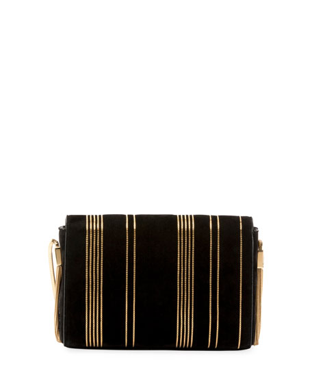 Kate Monogram YSL Small Suede Tassel-Side Chain Crossbody Bag