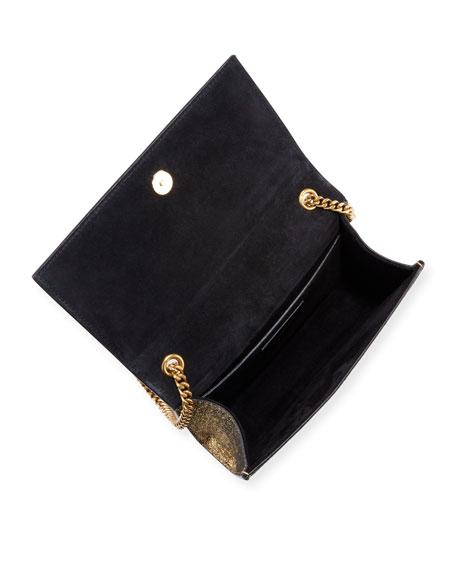 Kate Monogram YSL Small Metallic Crackled Leather Crossbody Bag