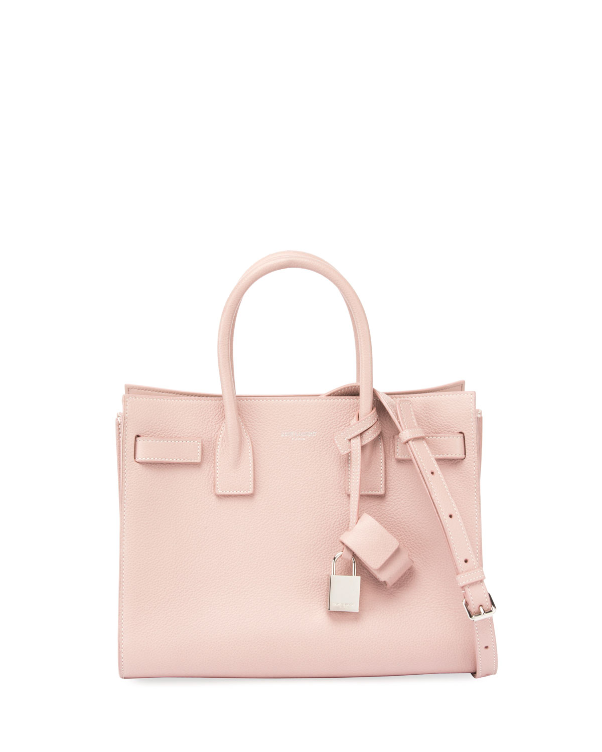 6424f88293060 Saint Laurent Sac de Jour Baby Grain Leather Tote Bag, Blush ...