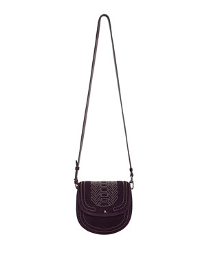 fcfbf20e1d75 Altuzarra Ghianda Mini Suede Saddle Shoulder Bag