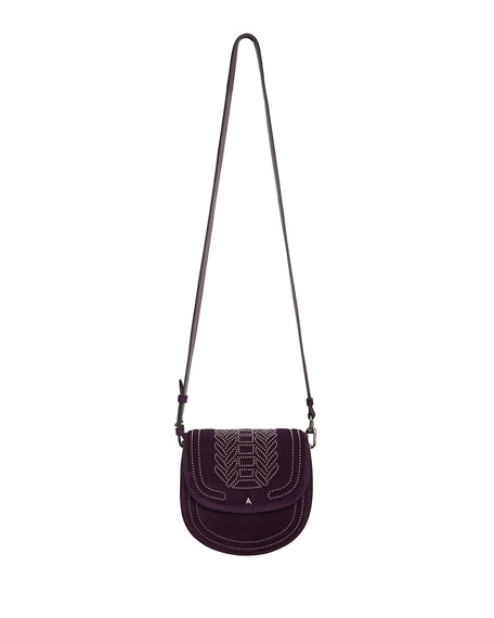 Ghianda Mini Suede Saddle Shoulder Bag