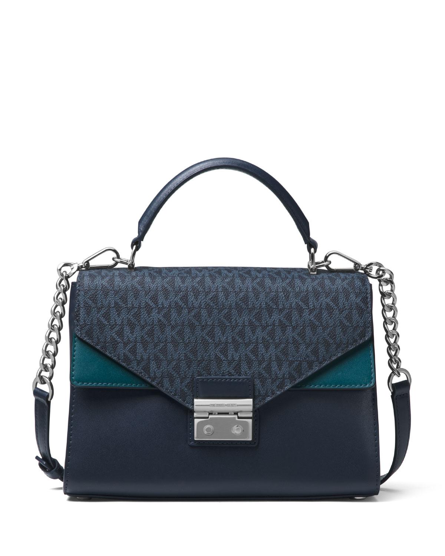 8229a1d0b9ef MICHAEL Michael Kors Sloan Medium Colorblock Satchel Bag