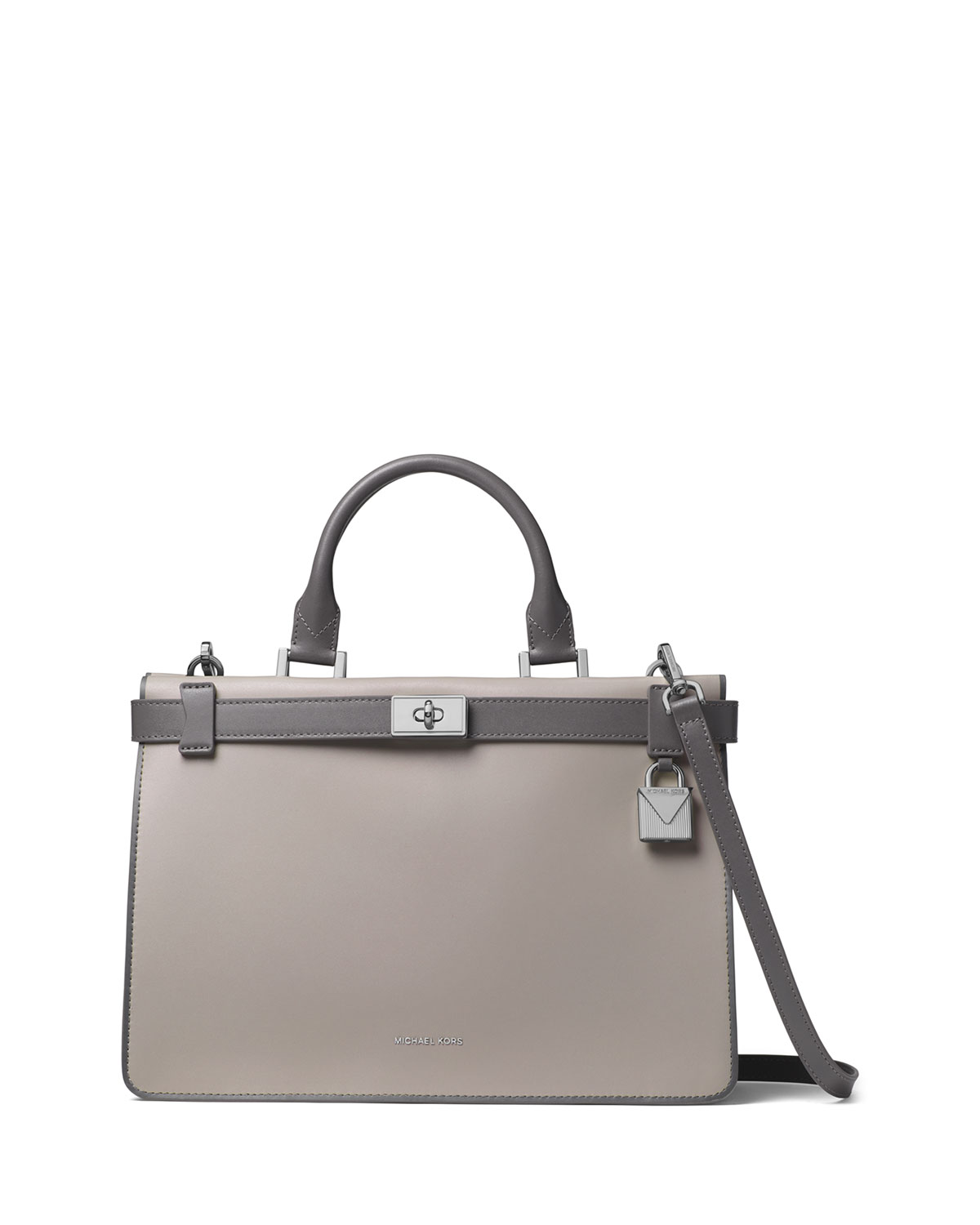 c4debac14ad2 MICHAEL Michael KorsTatiana Medium Leather Satchel Bag - Silvertone Hardware