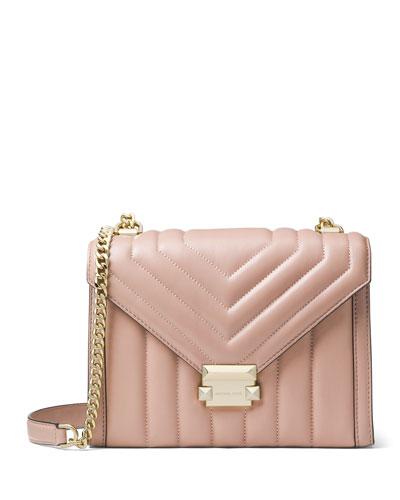 Whitney Large Shoulder Bag, Fawn
