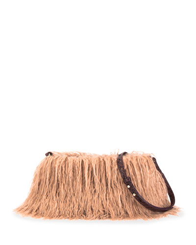 Small Faux-Fur Zip Crossbody Bag