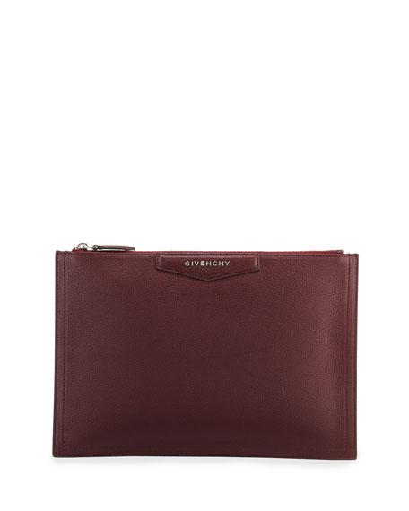 Medium Antigona Leather Pouch - Burgundy, Aubergine