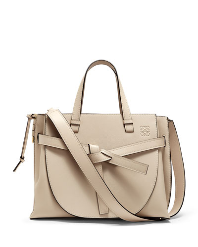 Gate Two-Tone Leather Tote Bag