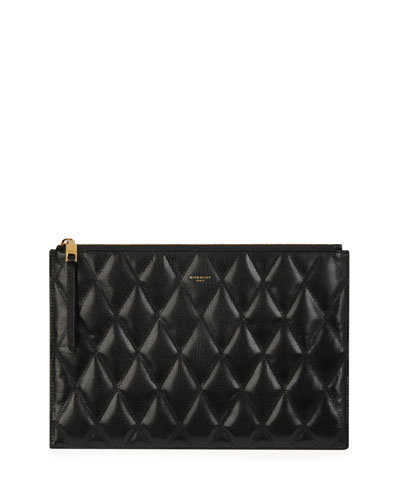 GV3 Medium Quilted Pouch Clutch Bag