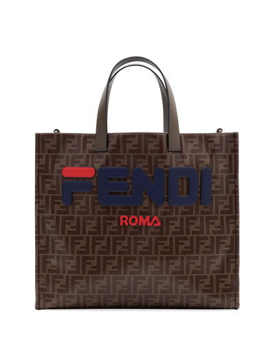 Fendi Runway Collection Regular Calf and Canvas Tote Bag