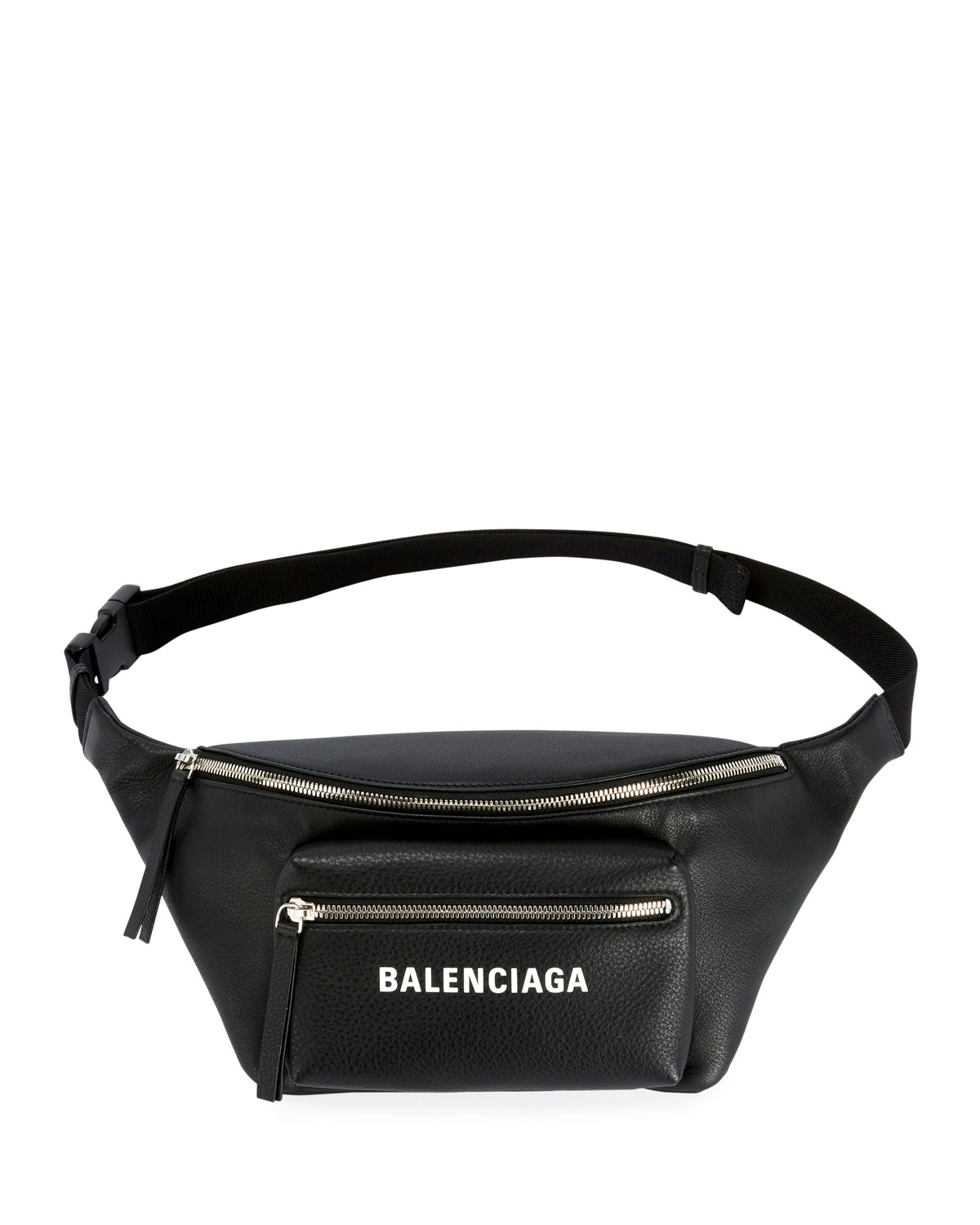 af1078d6a Balenciaga Everyday Large Leather Belt Bag with Logo Fanny Pack ...