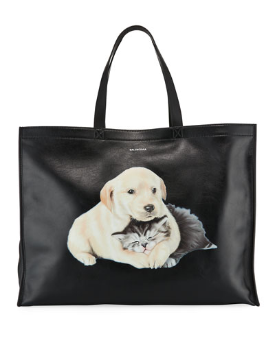 Market Shopper Tote Bag with Animal Graphic