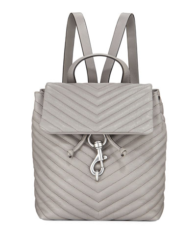 Edie Quilted Flap Backpack