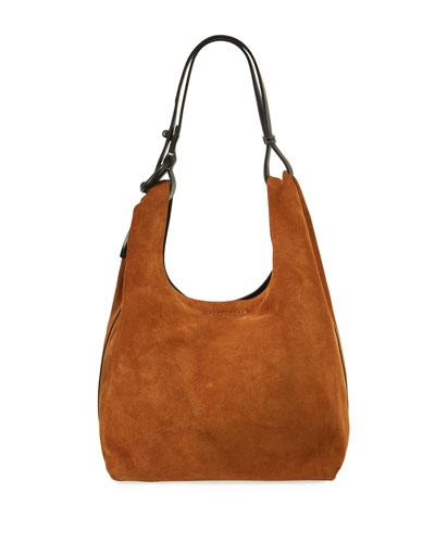 Karlie Suede Hobo Bag