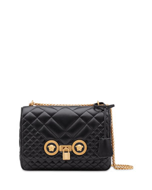 9aad64139d53 Versace Icon Medium Quilted Napa Shoulder Bag