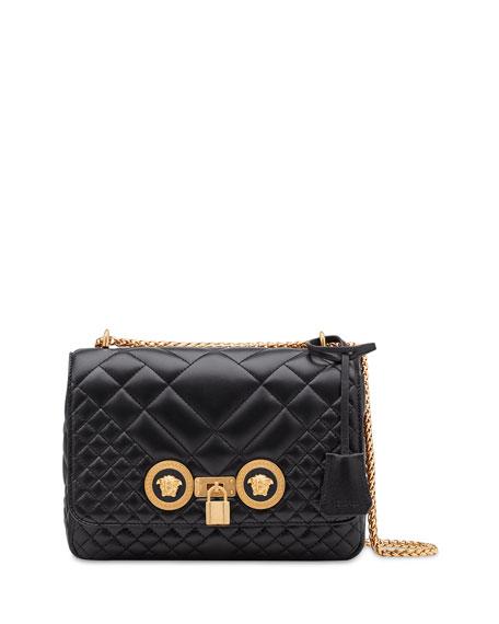 Versace Icon Medium Quilted Napa Shoulder Bag