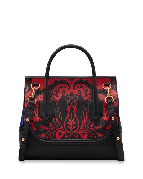 Vitello Stampa Floral Barocco Top-Handle Satchel Bag