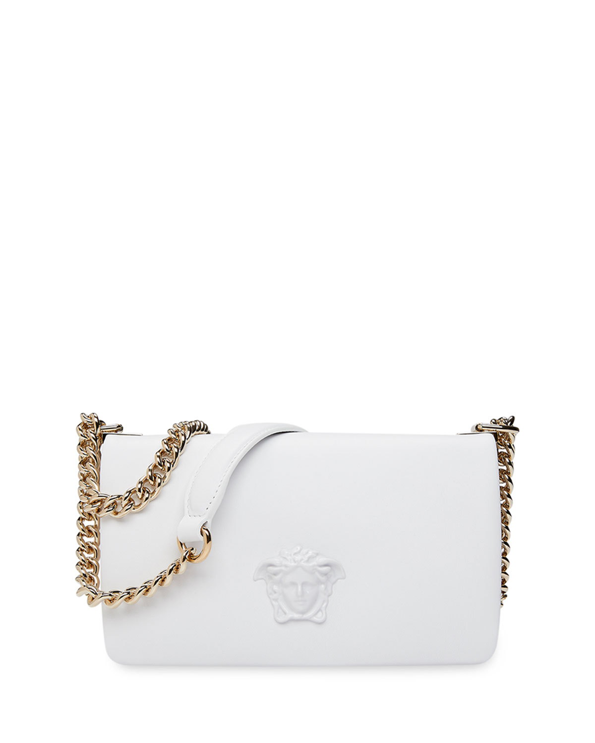 8edb0dd41fb8 Versace Lamb Leather Shoulder Bag with Medusa Head