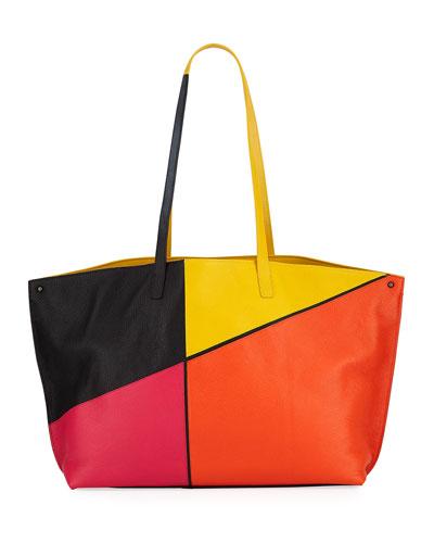 Akris Ai Medium Sunrise Patchwork Shoulder Bag from Neiman Marcus ... 412705ac81