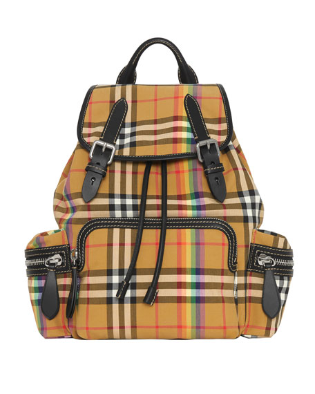 Burberry Medium Rucksack Vintage Check Rainbow Backpack