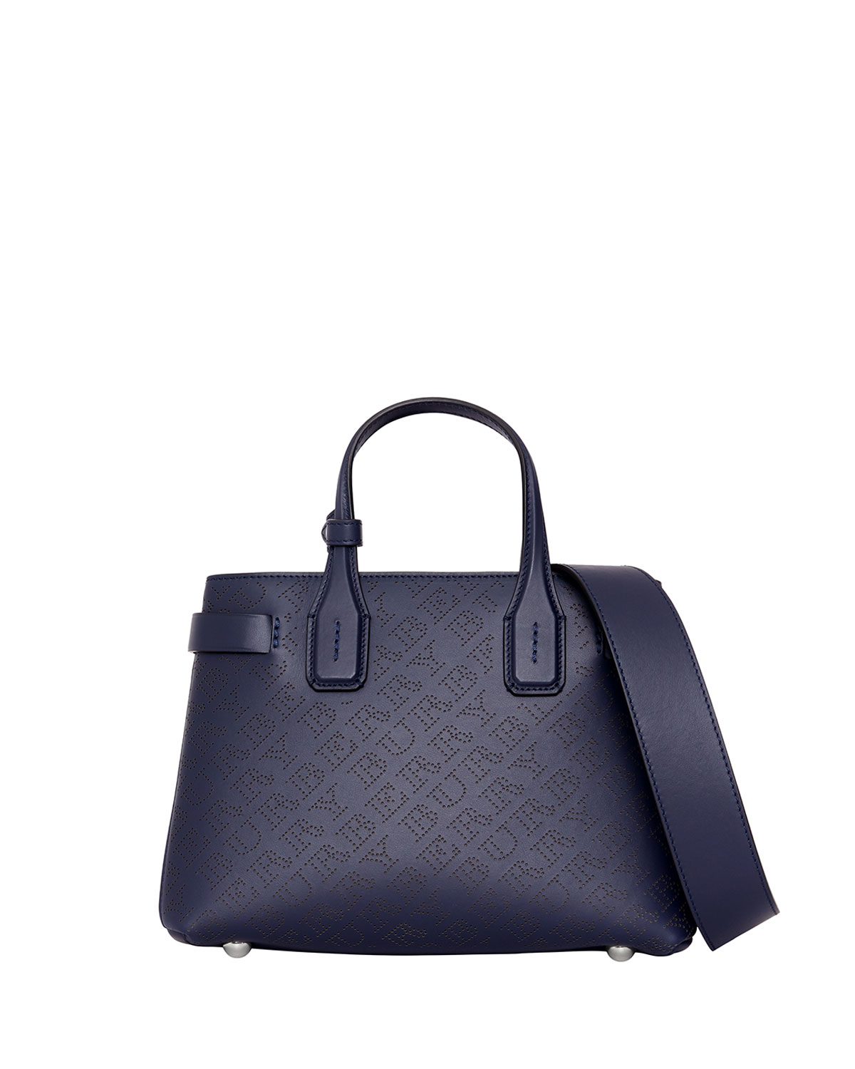 3a8017578c0f Burberry Banner Small Perforated Tote Bag Regency Blue Neiman Marcus
