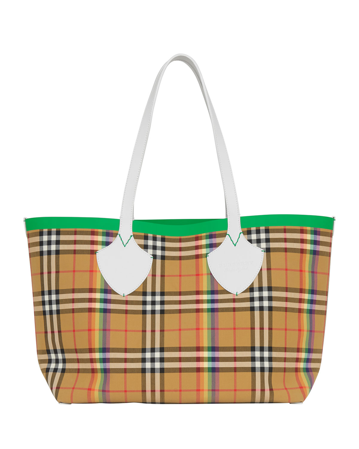 8aa63864f98d Burberry Medium Giant Rainbow Vintage Check Tote Bag