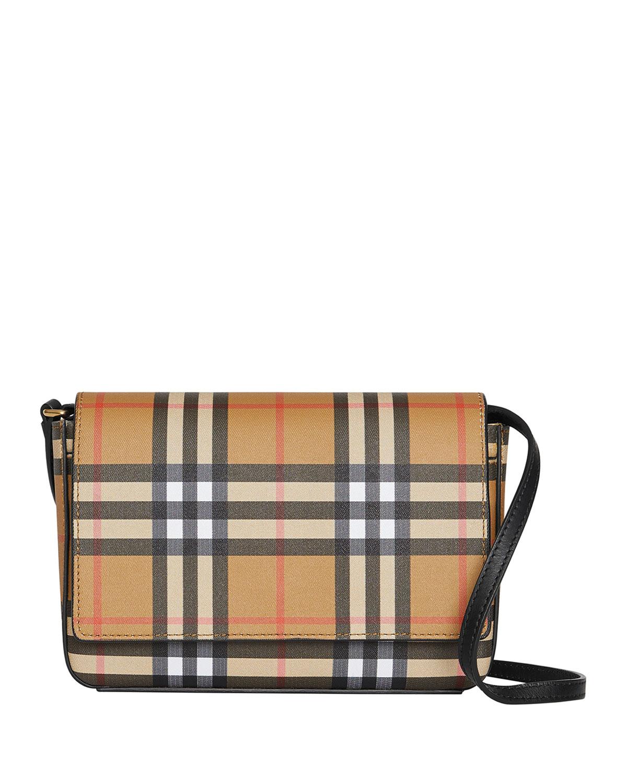 Burberry Hampshire Vintage Check Shoulder Bag  102350a369e36