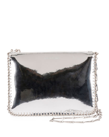 Iconic Metallic Crossbody Bag - Metallic, Silver