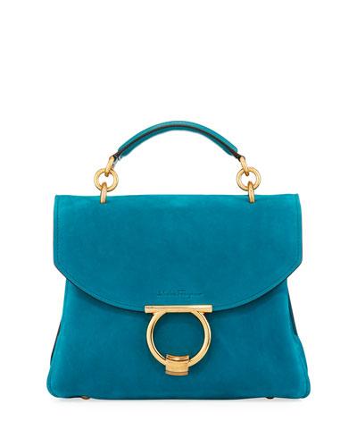 Margot Small Suede Satchel Bag