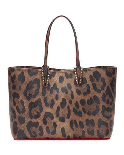 Cabata Empire Leopard-Print Leather Tote Bag