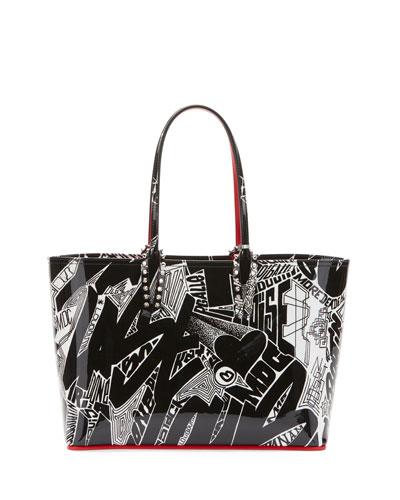 Louboutin Cabata Small Patent Nicograf Tote Bag