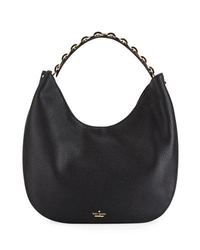 murray street heather zip-top hobo bag