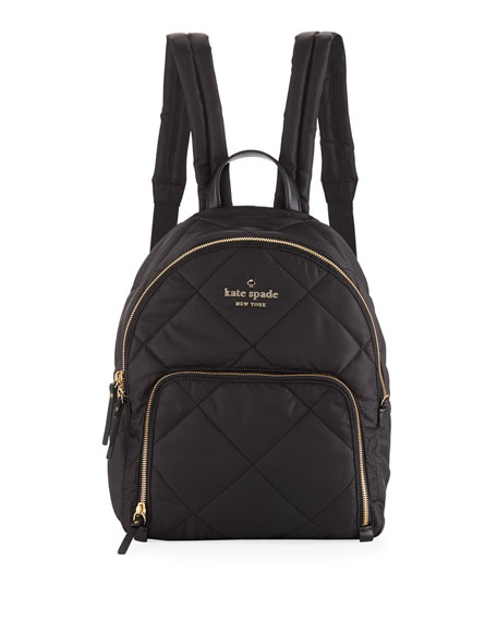 KATE SPADE Watson Lane - Hartley Quilted Nylon Backpack - Black