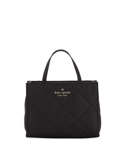 watson lane sam quilted nylon satchel bag